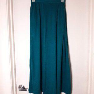 Green a line cotton skirt w/Pockets